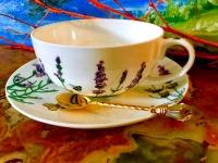 Carmani  Tasse + Untertasse Lavendel